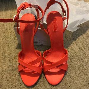 Top shop orange sandal size 9.5